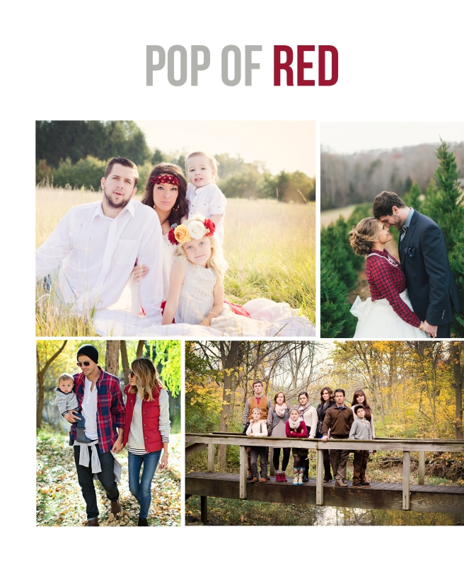 pop of red family picture outfits